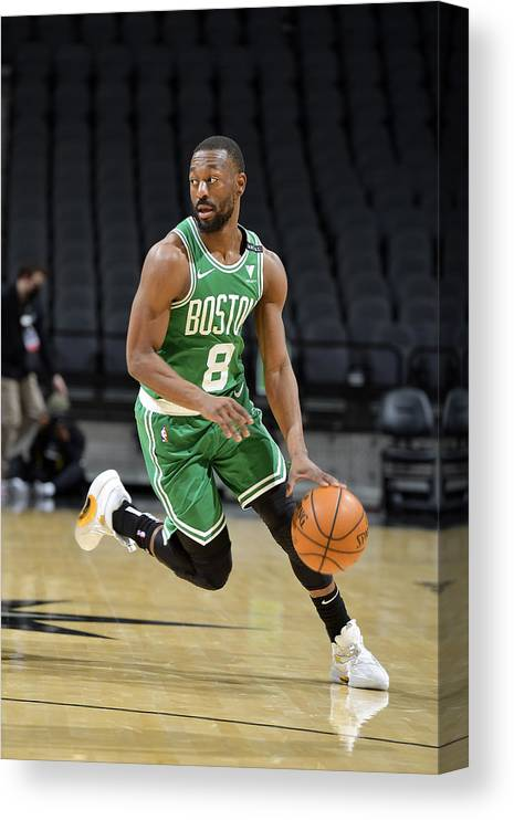 Kemba Walker Canvas Print featuring the photograph Kemba Walker by Logan Riely