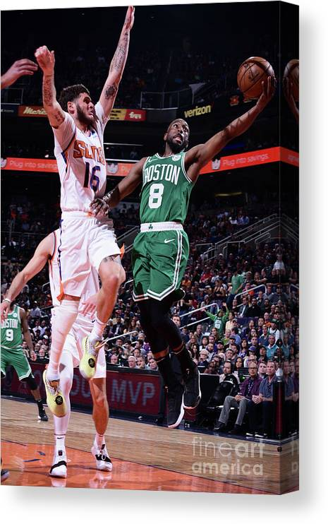 Kemba Walker Canvas Print featuring the photograph Kemba Walker by Michael Gonzales
