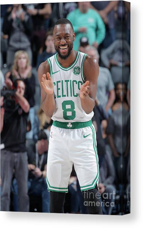 Kemba Walker Canvas Print featuring the photograph Kemba Walker by Rocky Widner