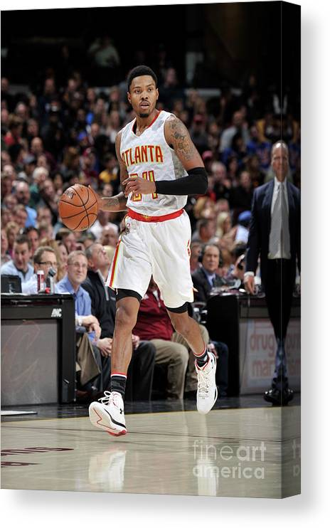 Nba Pro Basketball Canvas Print featuring the photograph Kent Bazemore by David Liam Kyle
