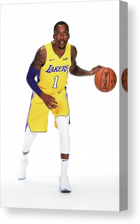 Media Day Canvas Print featuring the photograph Kentavious Caldwell-pope by Andrew D. Bernstein