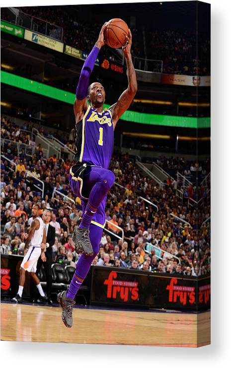 Nba Pro Basketball Canvas Print featuring the photograph Kentavious Caldwell-pope by Barry Gossage