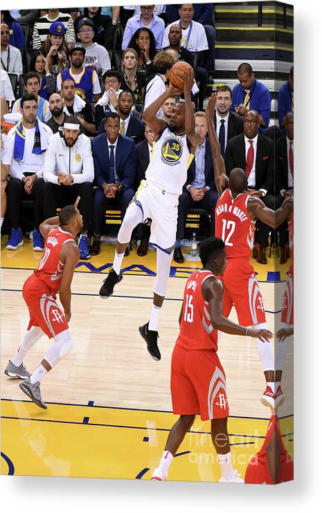 Nba Pro Basketball Canvas Print featuring the photograph Kevin Durant by Adam Pantozzi