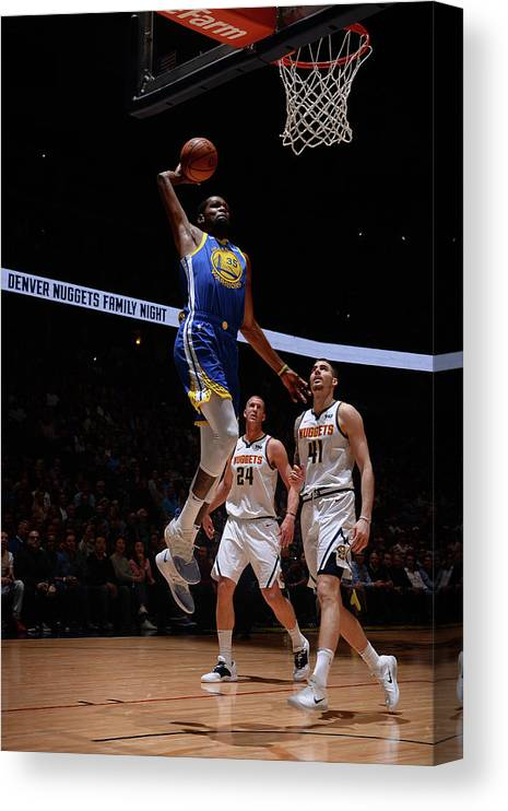 Nba Pro Basketball Canvas Print featuring the photograph Kevin Durant by Bart Young