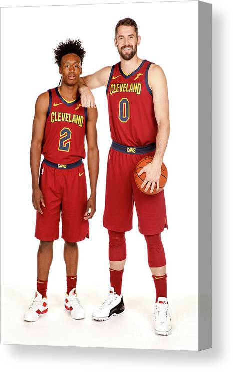 Media Day Canvas Print featuring the photograph Kevin Love by Chris Marion