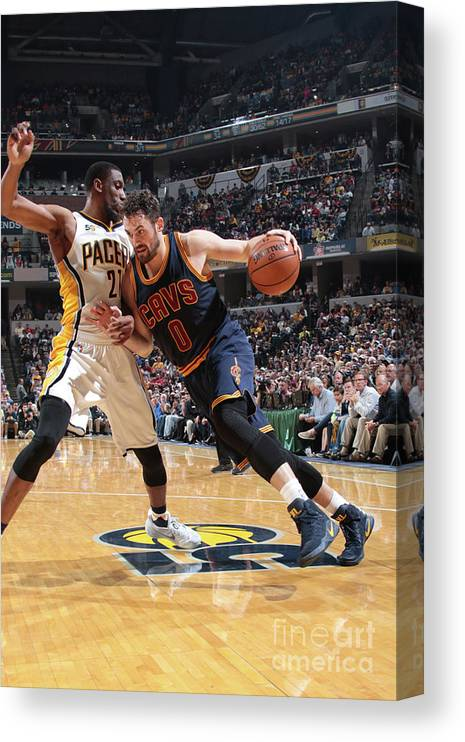 Playoffs Canvas Print featuring the photograph Kevin Love by Ron Hoskins