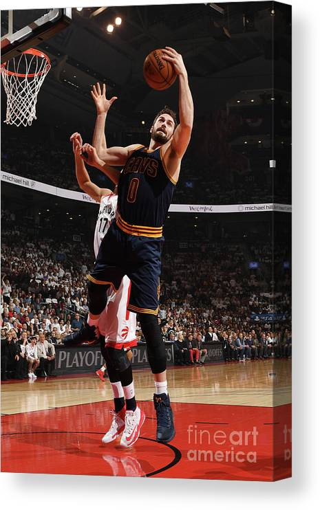 Playoffs Canvas Print featuring the photograph Kevin Love by Ron Turenne