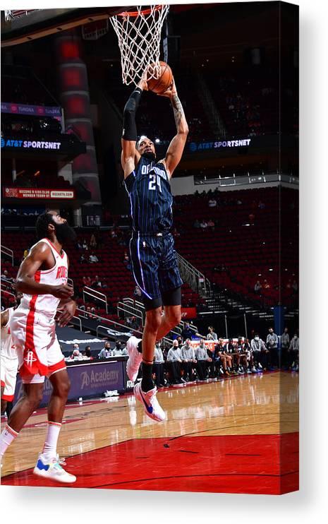 Nba Pro Basketball Canvas Print featuring the photograph Khem Birch by Cato Cataldo