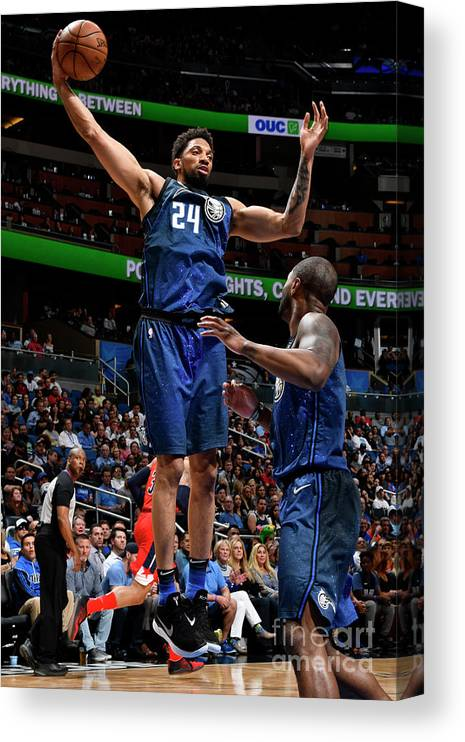 Nba Pro Basketball Canvas Print featuring the photograph Khem Birch by Fernando Medina