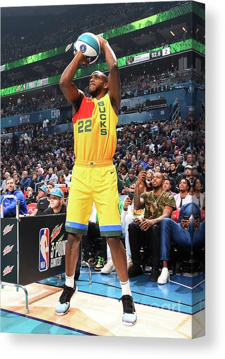 Nba Pro Basketball Canvas Print featuring the photograph Khris Middleton by Andrew D. Bernstein