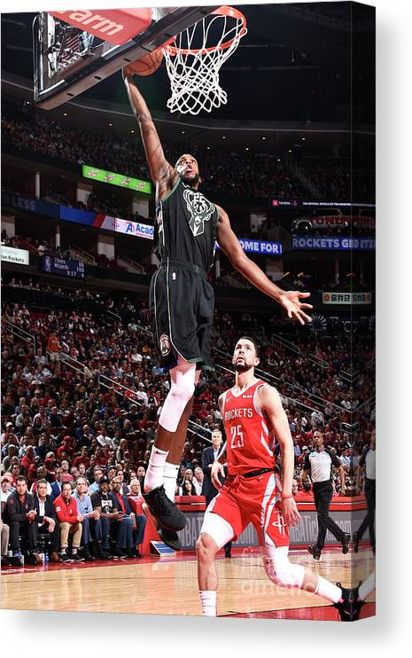 Nba Pro Basketball Canvas Print featuring the photograph Khris Middleton by Bill Baptist