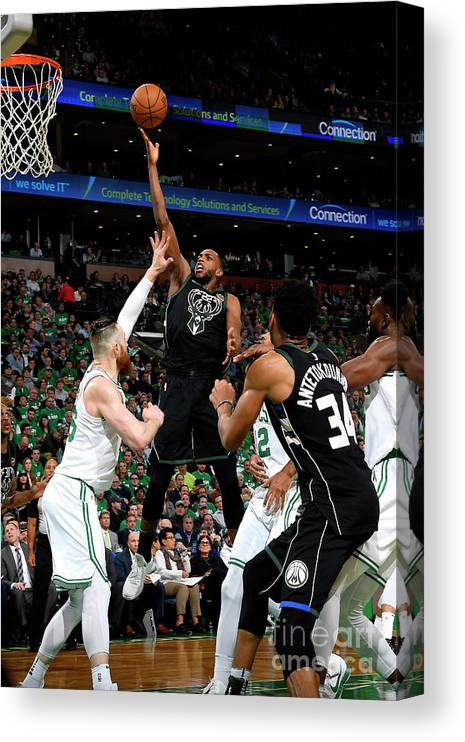 Playoffs Canvas Print featuring the photograph Khris Middleton by Brian Babineau