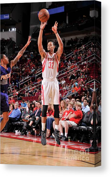 Nba Pro Basketball Canvas Print featuring the photograph K.j. Mcdaniels by Bill Baptist