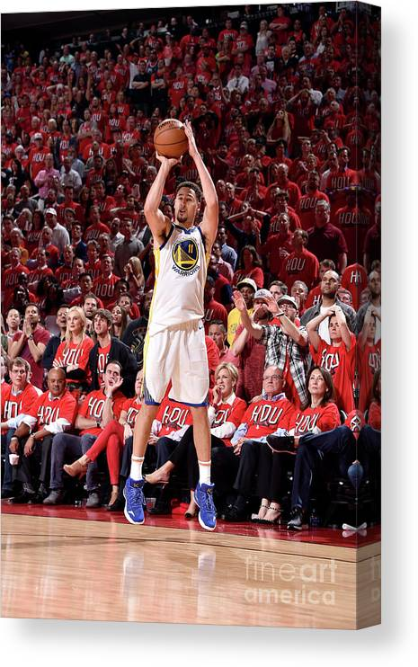 Playoffs Canvas Print featuring the photograph Klay Thompson by Bill Baptist
