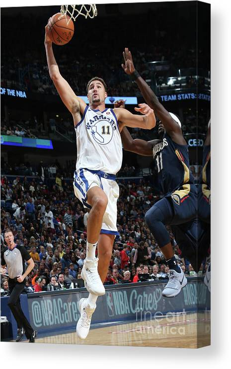 Smoothie King Center Canvas Print featuring the photograph Klay Thompson by Layne Murdoch