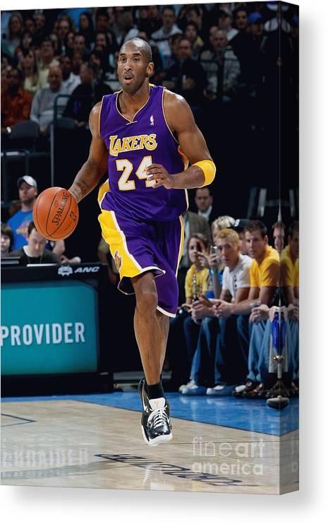 Nba Pro Basketball Canvas Print featuring the photograph Kobe Bryant by Layne Murdoch