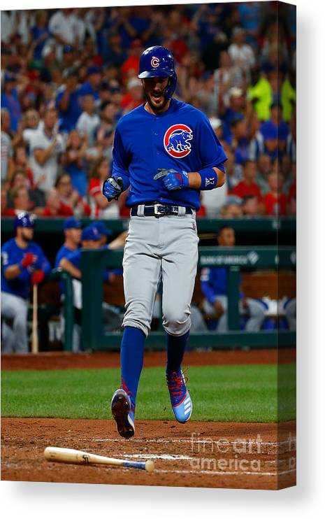 People Canvas Print featuring the photograph Kris Bryant by Dilip Vishwanat