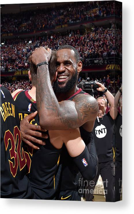 Playoffs Canvas Print featuring the photograph Kyle Korver and Lebron James by David Liam Kyle