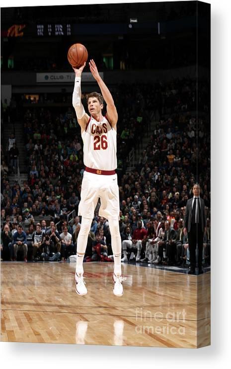 Nba Pro Basketball Canvas Print featuring the photograph Kyle Korver by Jordan Johnson