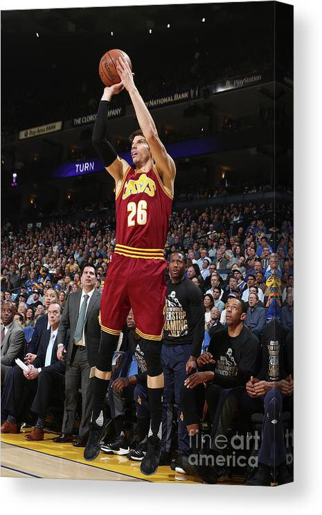 Nba Pro Basketball Canvas Print featuring the photograph Kyle Korver by Nathaniel S. Butler