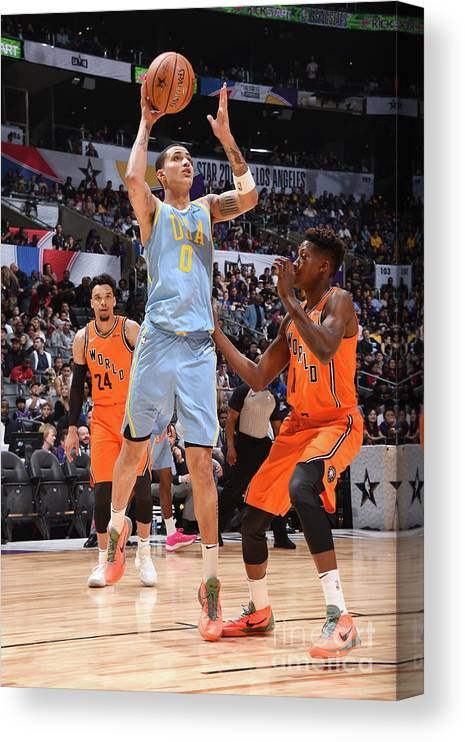 Event Canvas Print featuring the photograph Kyle Kuzma by Andrew D. Bernstein