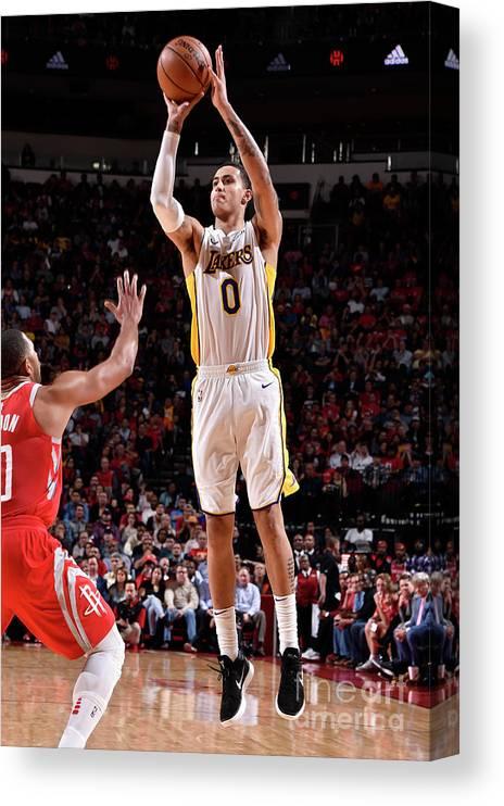 Nba Pro Basketball Canvas Print featuring the photograph Kyle Kuzma by Bill Baptist