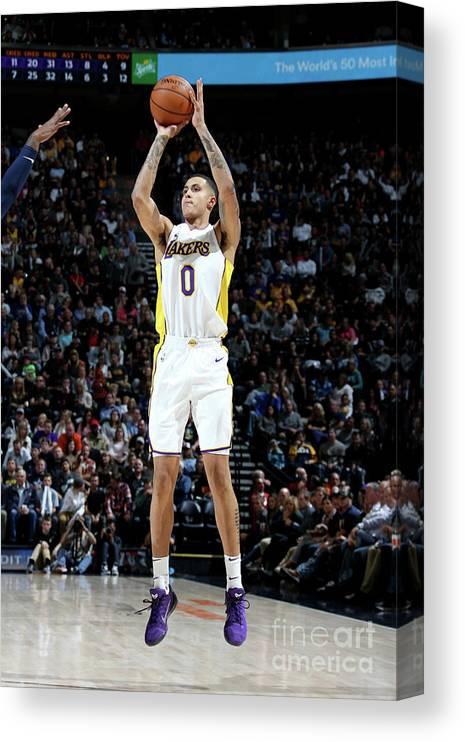 Nba Pro Basketball Canvas Print featuring the photograph Kyle Kuzma by Melissa Majchrzak