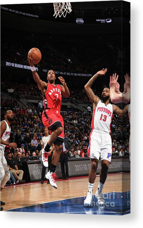 Nba Pro Basketball Canvas Print featuring the photograph Kyle Lowry by Chris Schwegler