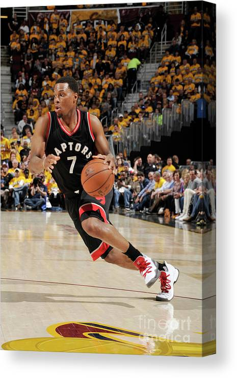 People Canvas Print featuring the photograph Kyle Lowry by David Liam Kyle