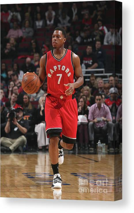 People Canvas Print featuring the photograph Kyle Lowry by Gary Dineen