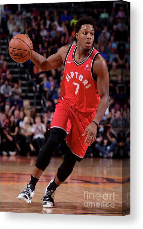 Nba Pro Basketball Canvas Print featuring the photograph Kyle Lowry by Michael Gonzales