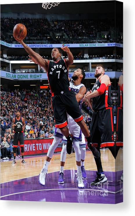 Nba Pro Basketball Canvas Print featuring the photograph Kyle Lowry by Rocky Widner