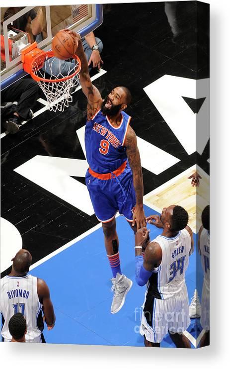 Nba Pro Basketball Canvas Print featuring the photograph Kyle O'quinn by Fernando Medina