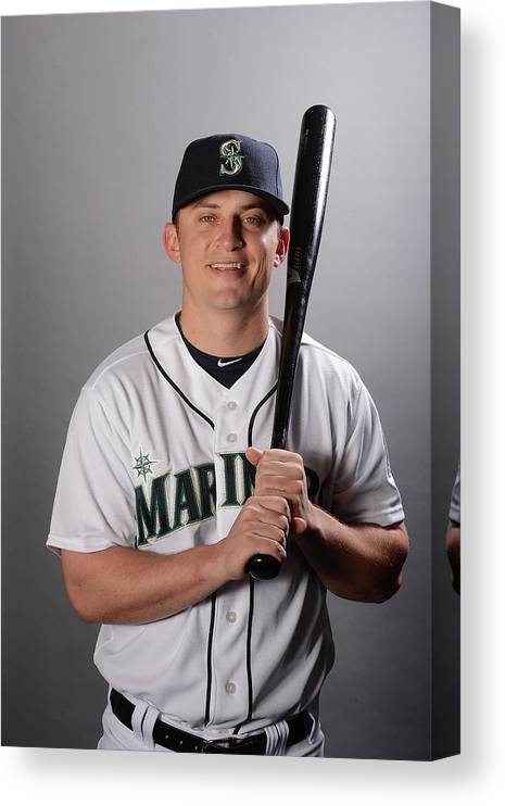 Media Day Canvas Print featuring the photograph Kyle Seager by Norm Hall