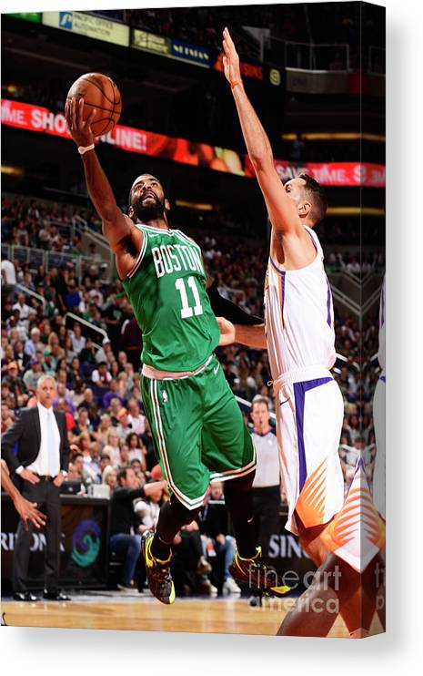 Nba Pro Basketball Canvas Print featuring the photograph Kyrie Irving by Barry Gossage