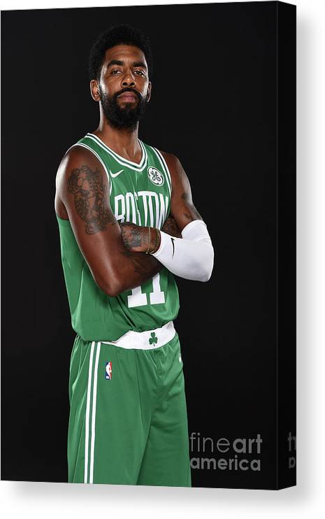 Media Day Canvas Print featuring the photograph Kyrie Irving by Brian Babineau