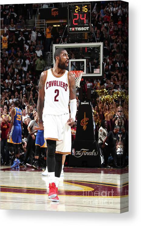 Playoffs Canvas Print featuring the photograph Kyrie Irving by Nathaniel S. Butler