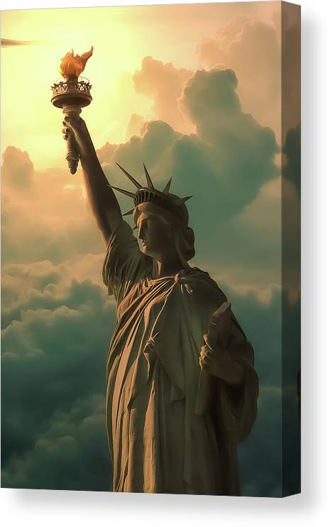 Monument Canvas Print featuring the photograph Lady Liberty by Jim Painter