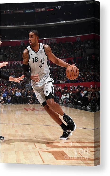 Nba Pro Basketball Canvas Print featuring the photograph Lamarcus Aldridge by Adam Pantozzi