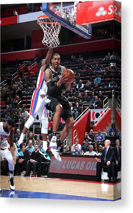 Nba Pro Basketball Canvas Print featuring the photograph Lamarcus Aldridge by Brian Sevald