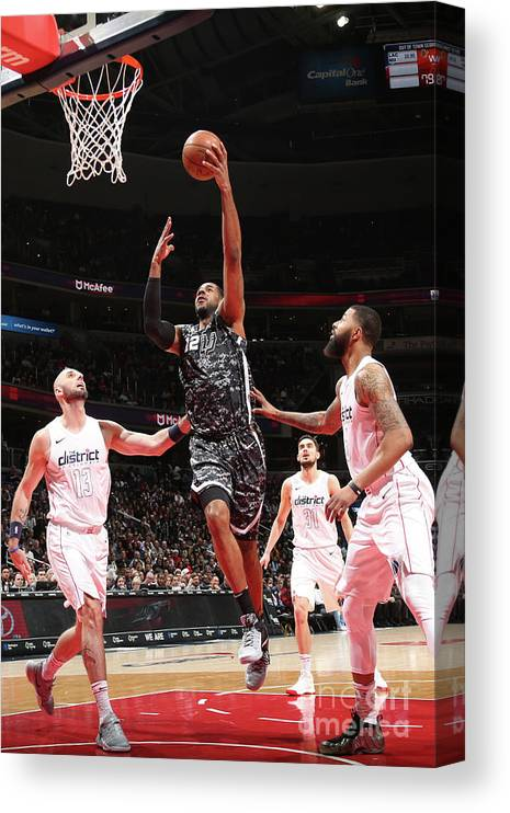 Nba Pro Basketball Canvas Print featuring the photograph Lamarcus Aldridge by Ned Dishman