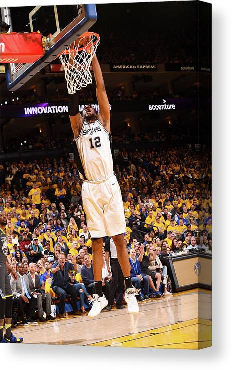 Playoffs Canvas Print featuring the photograph Lamarcus Aldridge by Noah Graham