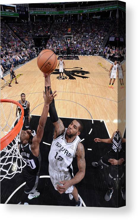 Nba Pro Basketball Canvas Print featuring the photograph Lamarcus Aldridge by Rocky Widner