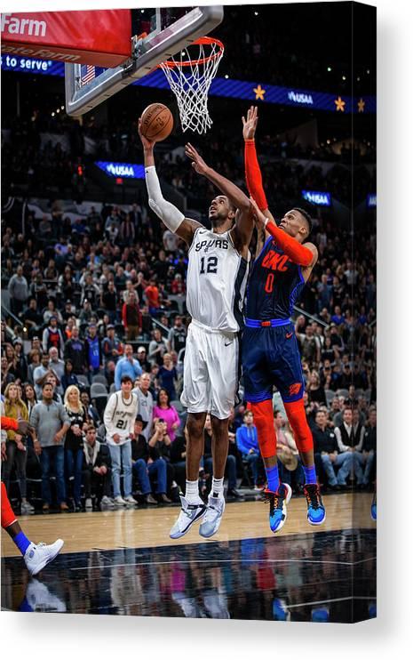 Nba Pro Basketball Canvas Print featuring the photograph Lamarcus Aldridge by Zach Beeker