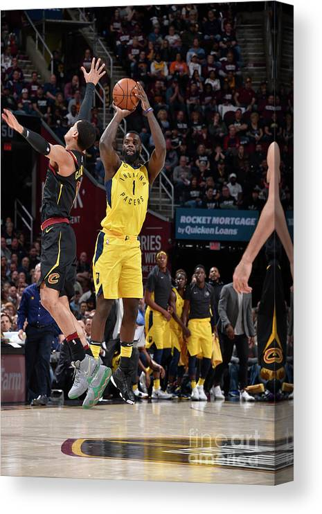 Playoffs Canvas Print featuring the photograph Lance Stephenson by David Liam Kyle