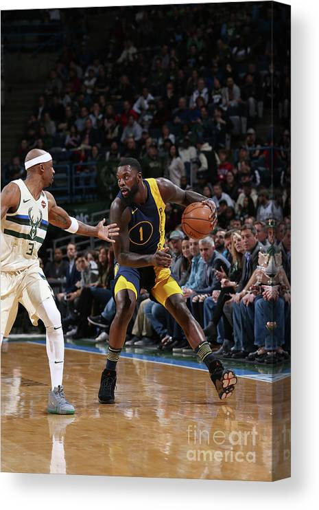 Nba Pro Basketball Canvas Print featuring the photograph Lance Stephenson by Gary Dineen