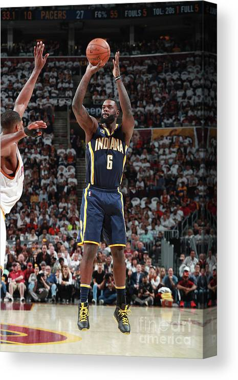 Playoffs Canvas Print featuring the photograph Lance Stephenson by Jeff Haynes