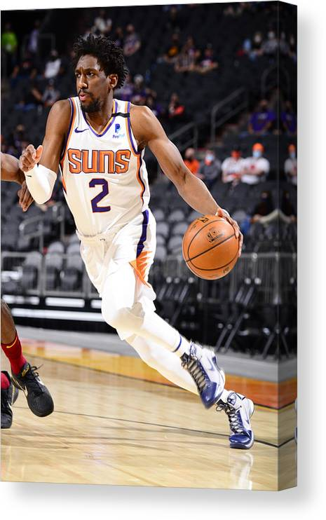 Nba Pro Basketball Canvas Print featuring the photograph Langston Galloway by Barry Gossage