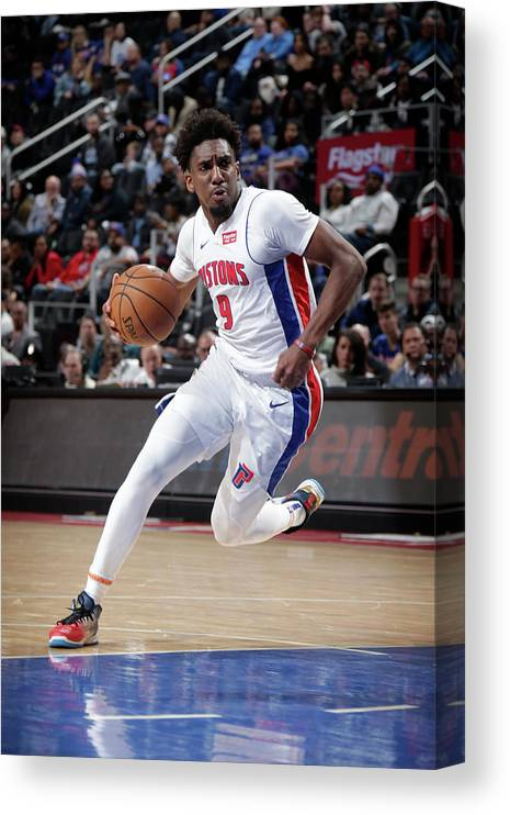 Nba Pro Basketball Canvas Print featuring the photograph Langston Galloway by Brian Sevald