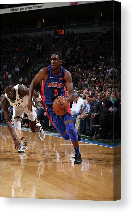 Nba Pro Basketball Canvas Print featuring the photograph Langston Galloway by Gary Dineen